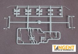 95005-07 Part Sprue – PS-2CD 4750 Jacking pads, air hoses, retainer lines and shaker brackets