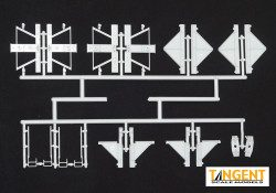 95005-03 Part Sprue – PS-2CD 4750 Bolster, Centersill, and Side Ladder Parts