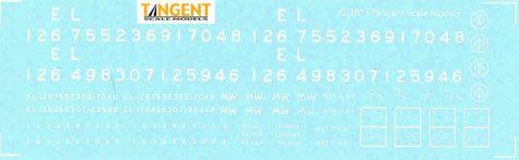 99059 EL Decal Set
